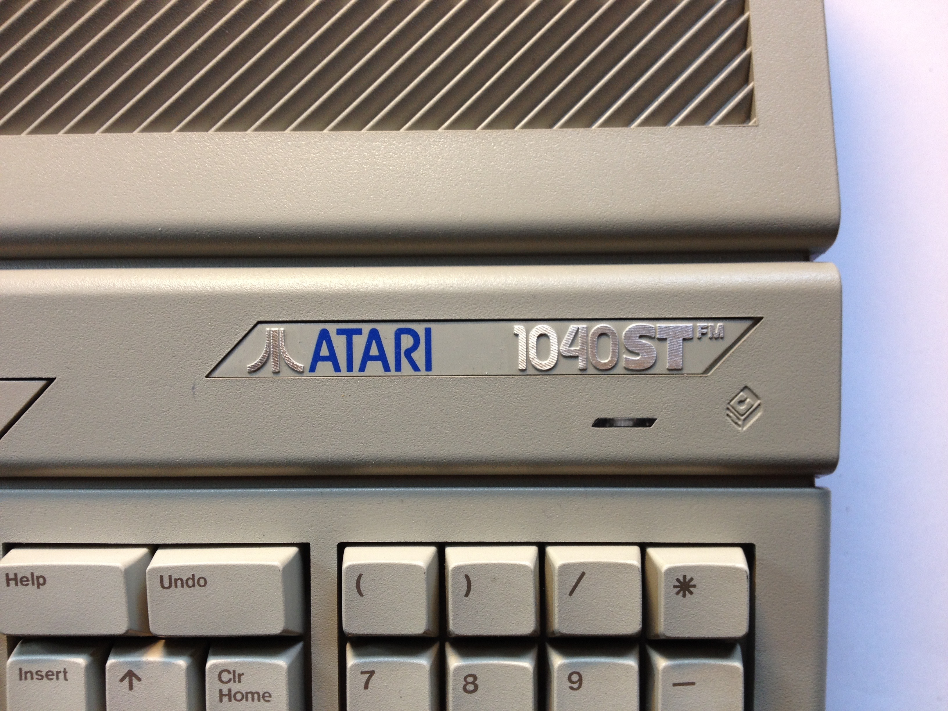 Atari 1040STFM #1 Label