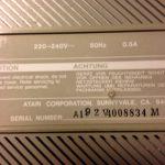Atari 1040STFM #3 Serial#